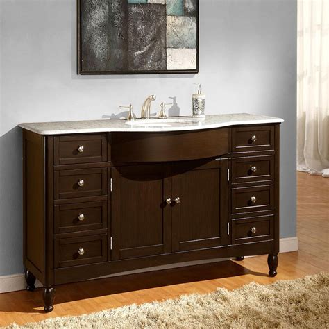 58 Quot Modern Single Bathroom Vanity Espresso 58 Bathroom Vanity