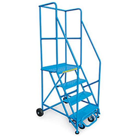 400 Lb Capacity Ladder by 36 Quot Standard Slope Rolling Ladder 4 Step 60 Degree