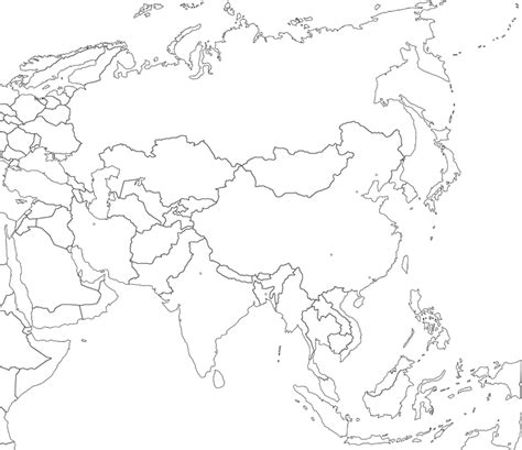 Outline Map Europe And Asia by Vte Asia Distributors