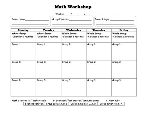 workshop model lesson plan template lesson plan template math workshop lesson plan exles