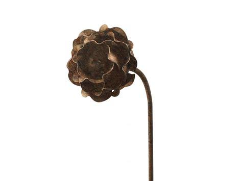 rose metal flower garden stakes