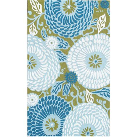 Blue And White Outdoor Rug Dandelion Green Blue White 8x10 Sku Rugm 25260e Machine Made Area Outdoor Rugs