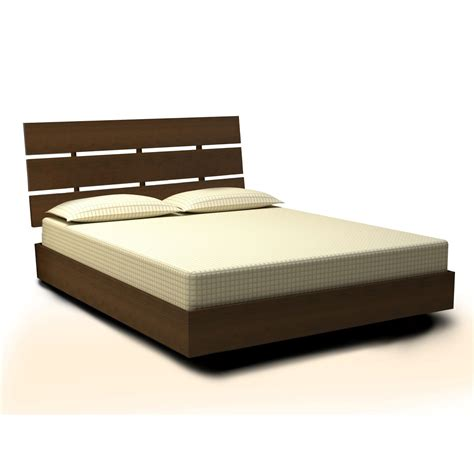 size platform bed nexera 401218 nocce size platform bed and headboard
