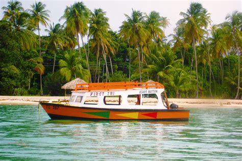 glass bottom boat tours tobago glass bottom boat ride to nylon pool and buccoo reef