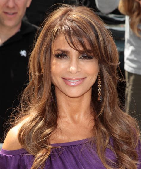 Paula Abdul Hairstyles by Paula Abdul Wavy Casual Hairstyle With Side Swept