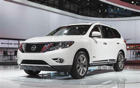 nissan pathfinder hybrid 2014 nissan pathfinder hybrid boasts supercharged i 4 26