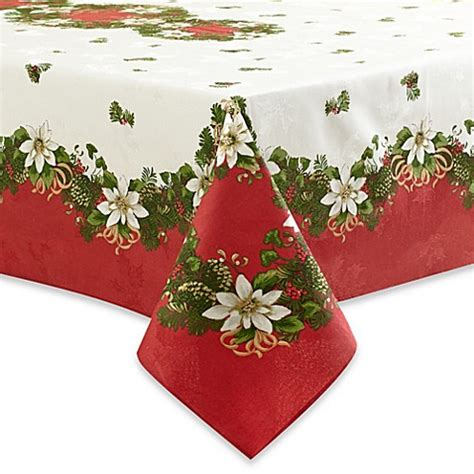 bed bath and beyond christmas tablecloths buy christmas tablecloth from bed bath beyond