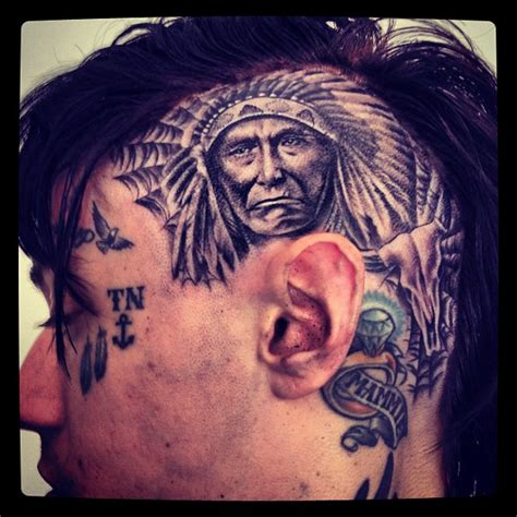 billy ray cyrus tattoos photo trace cyrus gets elaborate american on