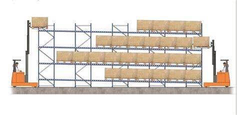 Gravity Flow Racks by High Density Forklift Working Gravity Flow Racks For