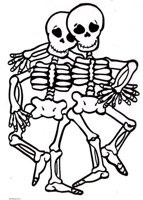 imagenes halloween esqueletos dibujos de esqueletos de fiestas para colorear