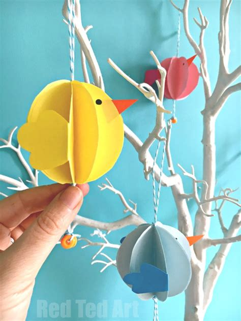 Easter Decorations To Make Out Of Paper - easy paper craft easter decoration ted