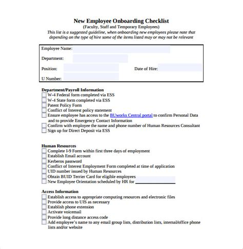 employee or independent contractor checklist template employee checklist template excel best photos