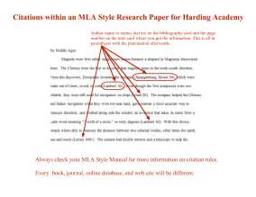 Cite Research Paper Exle by Mla Style Research Paper Format Exle