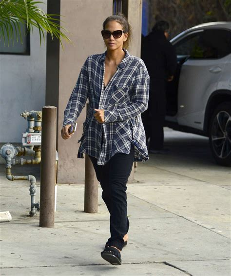 Halle Berry Makes Out With The Ground by Halle Berry Out In Los Angeles
