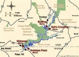 lake powell arizona map lake powell houseboat and vacation map for utah and