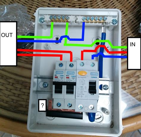 wiring diagram for rcd garage consumer unit wiring