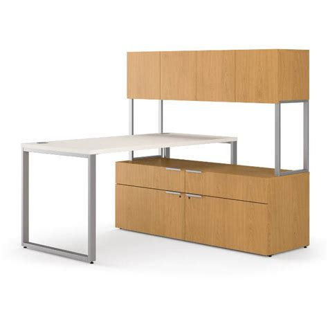 L Shaped Desk With Credenza hon voi 60in l shaped desk with low credenza and hutch vs6060l1b
