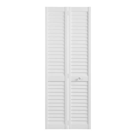 Louvered Bifold Closet Doors by Shop Reliabilt Louvered Solid Pine Bifold Closet Door