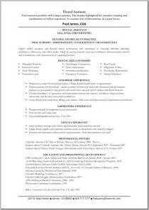 Dental Cv Template by Dental Assistant Resume Template Great Resume Templates