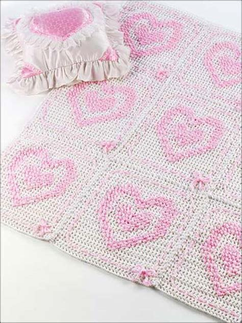 heart pattern baby blanket crochet blanket patterns hearts in hearts baby afghan