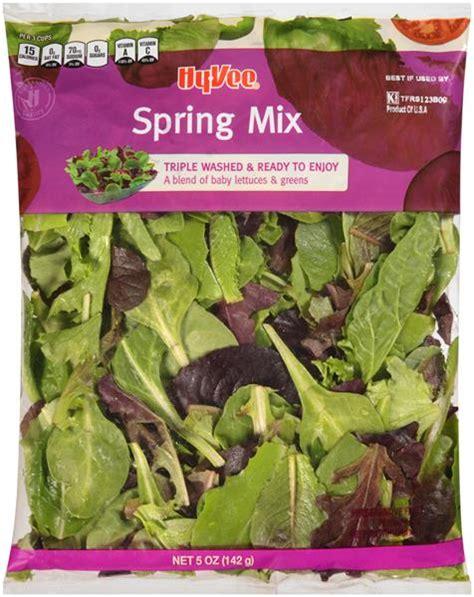 spring mix salad lettuce types