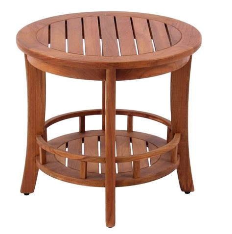 small round side table wood