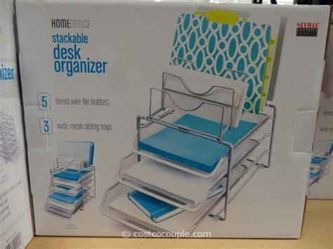 seville desk organizer seville classics stackable desk organizer