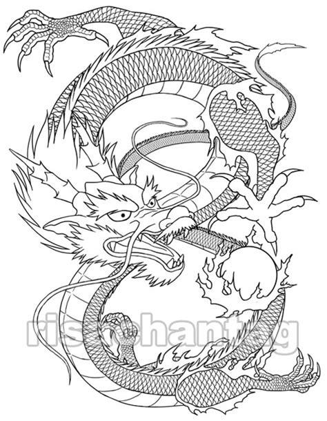 vietnamese dragon coloring page coloriage tatouage les beaux dessins de autres 224
