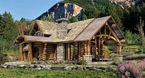 Craftsman Cabin by Stone Log Homes Custom Timber Frame Home Bestofhouse Net