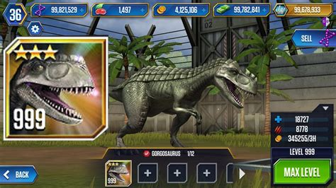 t i game jurassic world the game hack full mi n ph 237 level 999 gorgosaurus hack jurassic world the game youtube