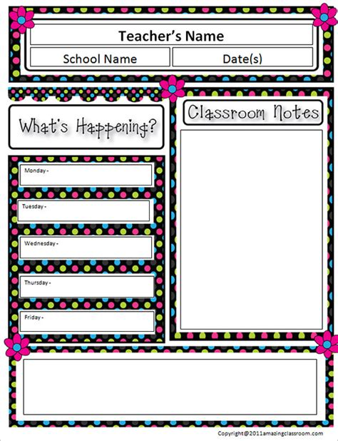 templates for teachers 10 awesome classroom newsletter templates designs