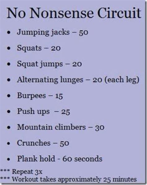 image circuit cardio workout at home