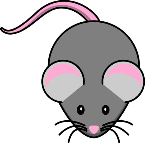 mouse clipart pink and grey mouse clip at clker vector clip