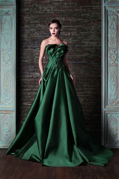 beautiful green color beautiful green color rami kadi 2014 fashionable wedding