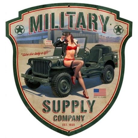 jeep pin up plaque m 233 tal d 233 co jeep pin up militaire 1944 retro wheels