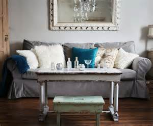 Custom Ektorp Slipcover Living Rooms With Gray Sofas