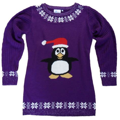 womens pattern christmas jumper christmas jumper party penguin jumper dress iwoot