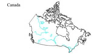 blank map of canada rivers