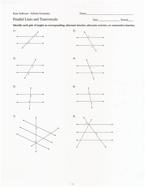 Worksheet 3 Parallel Lines Cut By A Transversal Answers by The World S Catalog Of Ideas