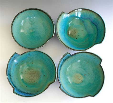 Ceramic Bowls Handmade - set of 4 modern handmade ceramic bowls