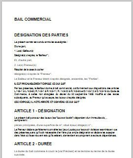 id 233 e modele bail commercial 3 6 9 pdf