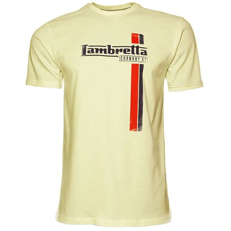 T Shirt Lambretta 5 by Lambretta T Shirt Classic Stripe Distressed Print