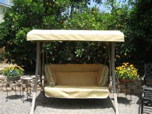 sunbrella patio swing home depot hton bay charm patio swing refurbished with