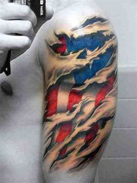 american flag ripped skin tattoo 1000 ideas about ripped skin on
