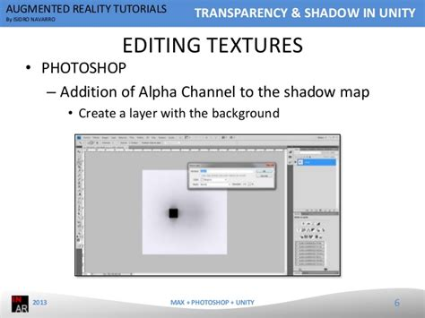 adobe photoshop alpha channel tutorial augmented reality tutorial transparency shadow in unity