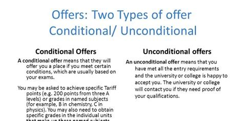 Offer Letter Contingent On Graduation Difference Between Conditional And Unconditional Offer Letter