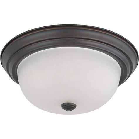 Ceiling Light Base Nuvo Lighting 63146 2 Light Medium Base 18 Quot Flush Mount Mahogany Bronze Finish With