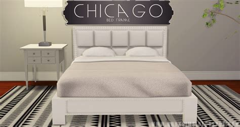 Bed Frame Chicago My Sims 4 Chicago Bed Frame By Kiararawks