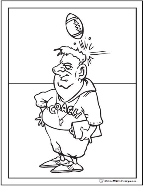 football coach coloring page football coloring pages customize and print pdf
