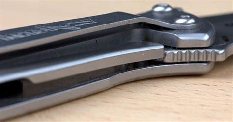 frame lock kershaw leek knife review
